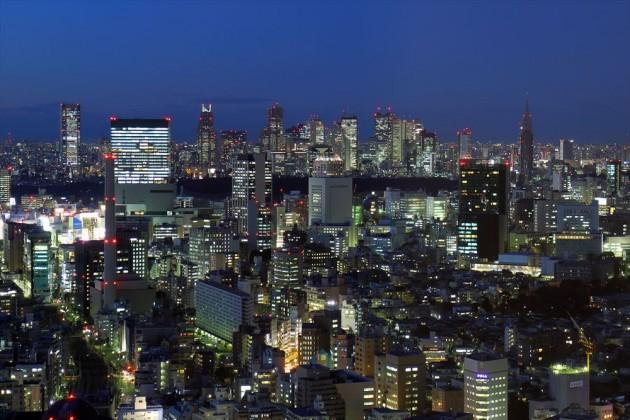 恵比寿ガーデンプレイスからの夜景