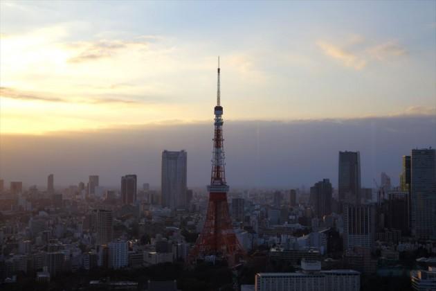 世界貿易センタービル 展望台から東京タワー