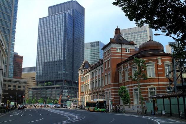 東京駅付近の風景